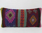 kilim pillow handmade pillow cover lumbar pillow designer pillow sham chair cushion cover novelty cushion unusual cushion purple pink 26056
