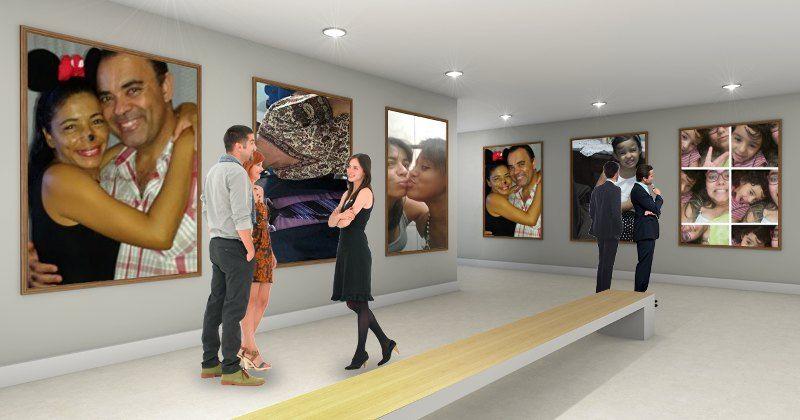 Como é sua exposição no museu?