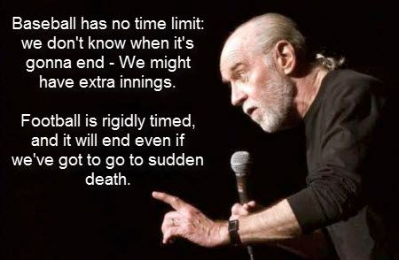 Image result for george carlin baseball vs football
