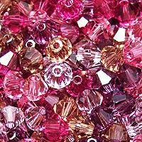 Swarovski Crystal, 4mm Bicone, Nostalgia Mix