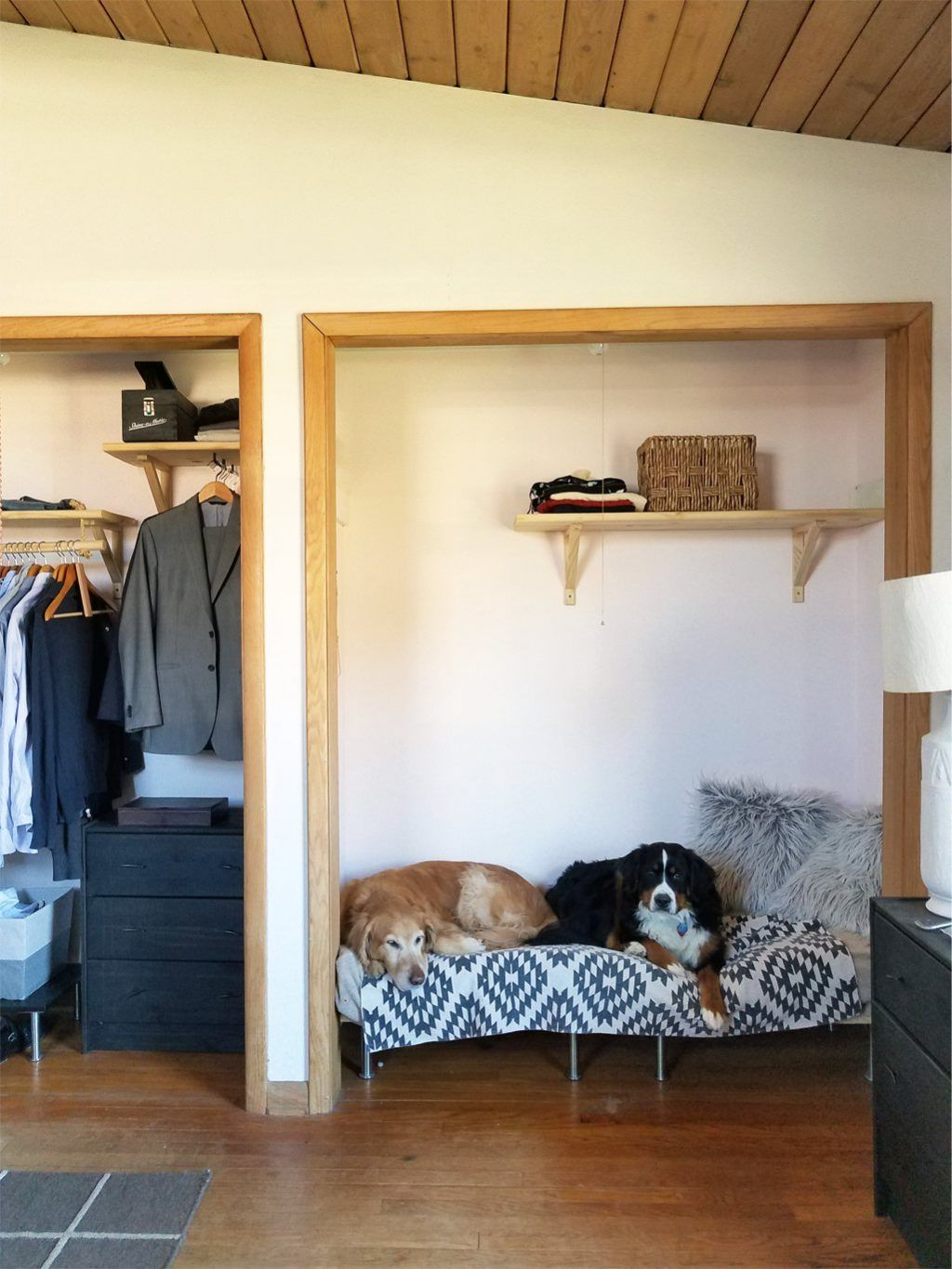 Diy Raised Dog Bed From Mdf And Inexpensive Legs From Ikea Raised Dog Beds Diy Raised Dog Bed Diy Dog Bed