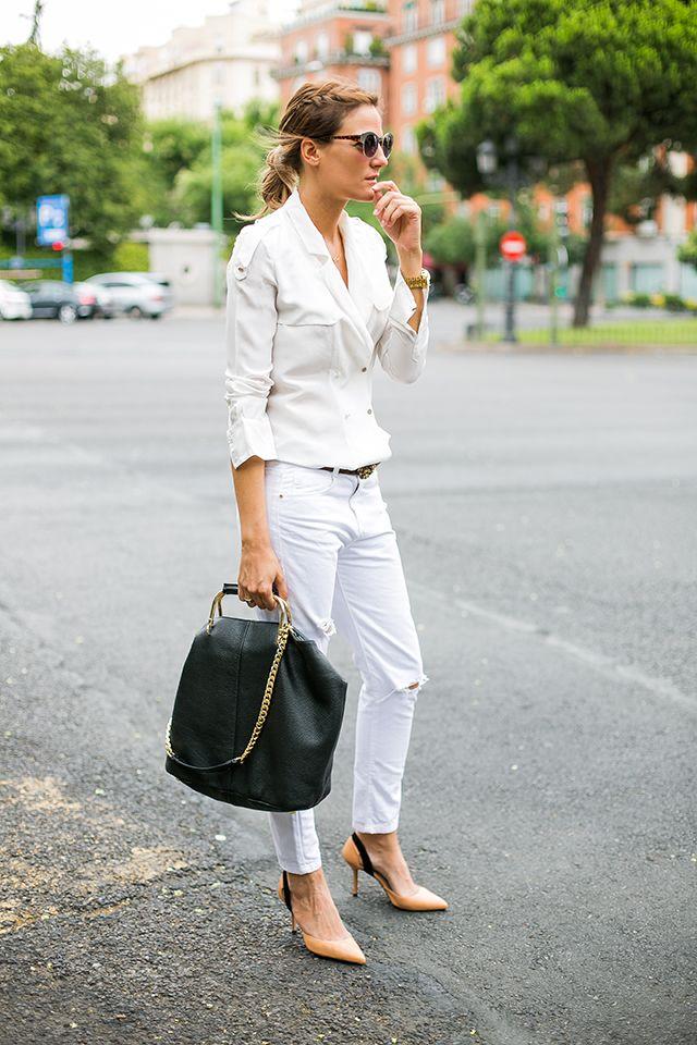 OUTFITS, camisa blanca zara, trenzas, bolso negro etro , salones nude, cinturon vintage, gafas aviator zara sales, baggy jeans, cristina blanco, spanish fashion bloggers, fashion from spain, guiadeestilo blog, guia de estilo blog