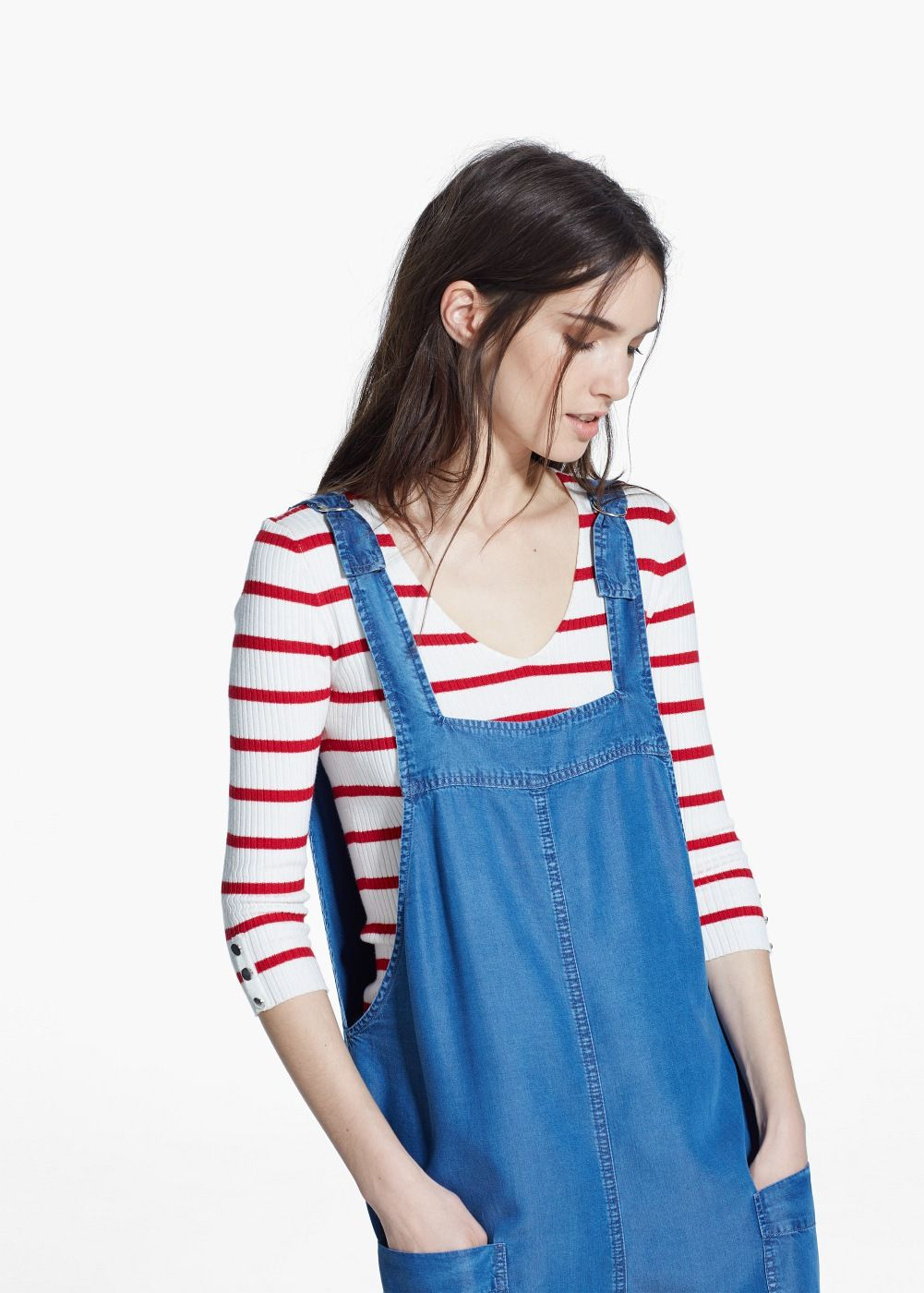 Soft short dungarees