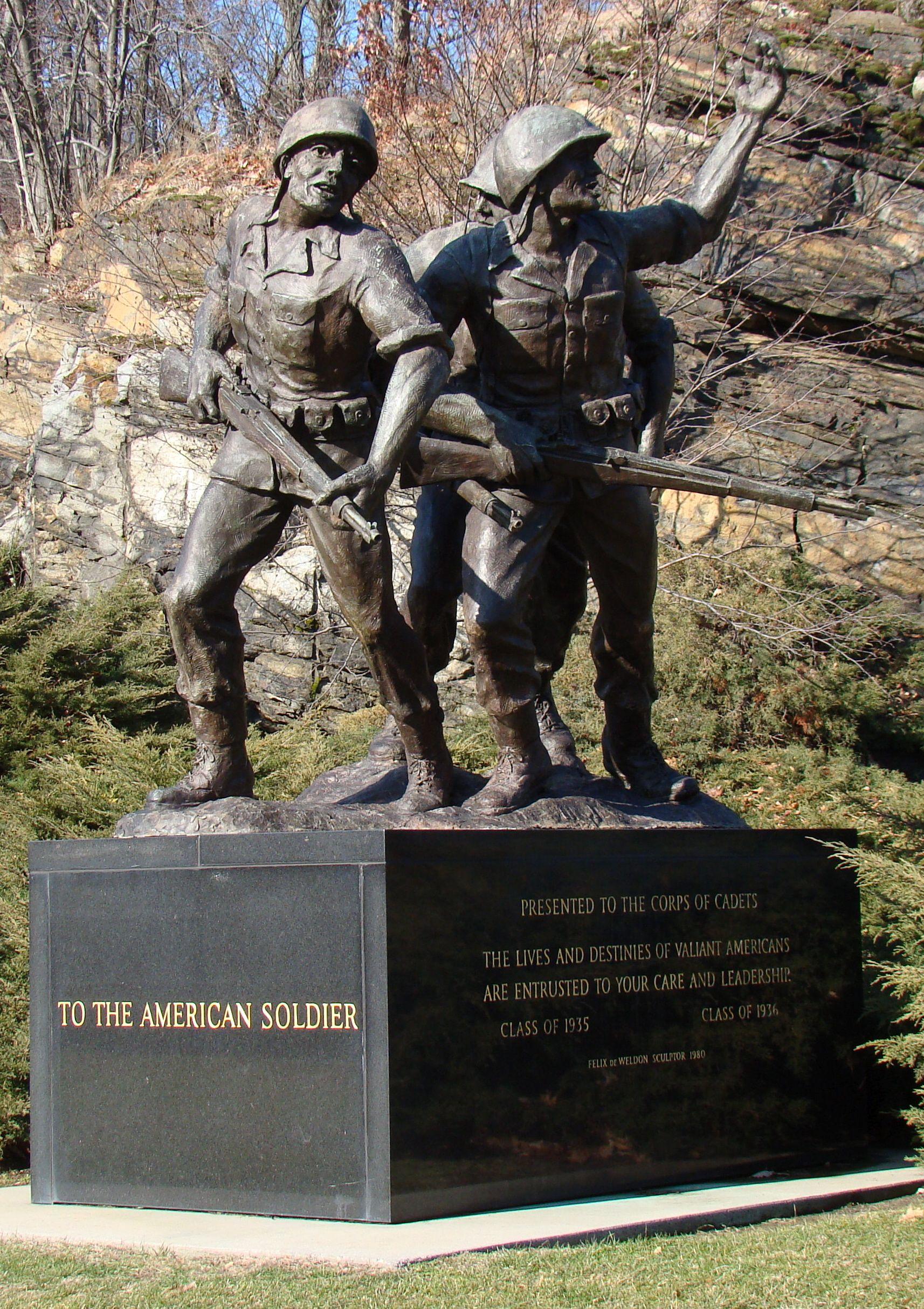 American Soldier Monument Pamyatniki Statui Skulptura