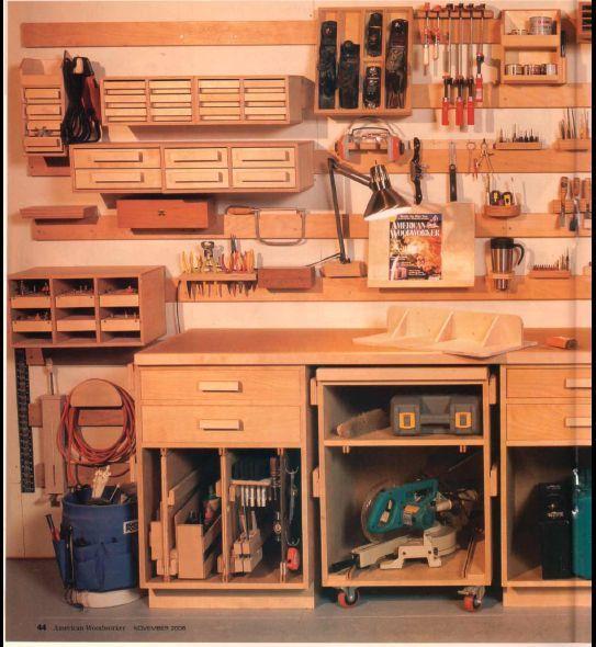 Workshop organization by cory for Diy garage shop