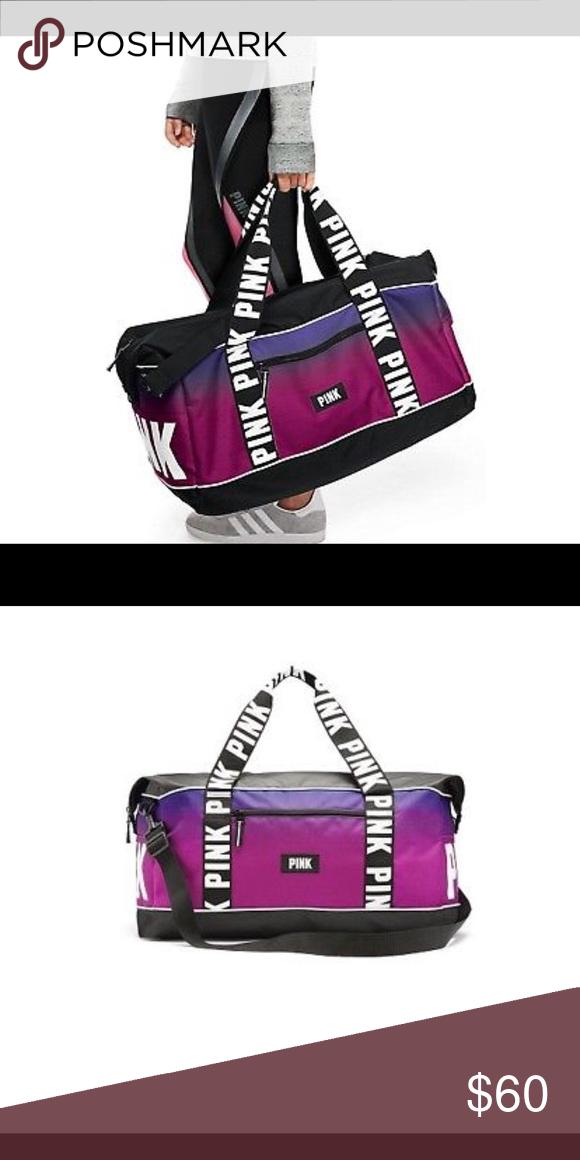 add6b6a5ab2b Vs pink gradient duffle bag Victoria s Secret pink Gorgeous Pink   purple  ombré gradient gym Rare
