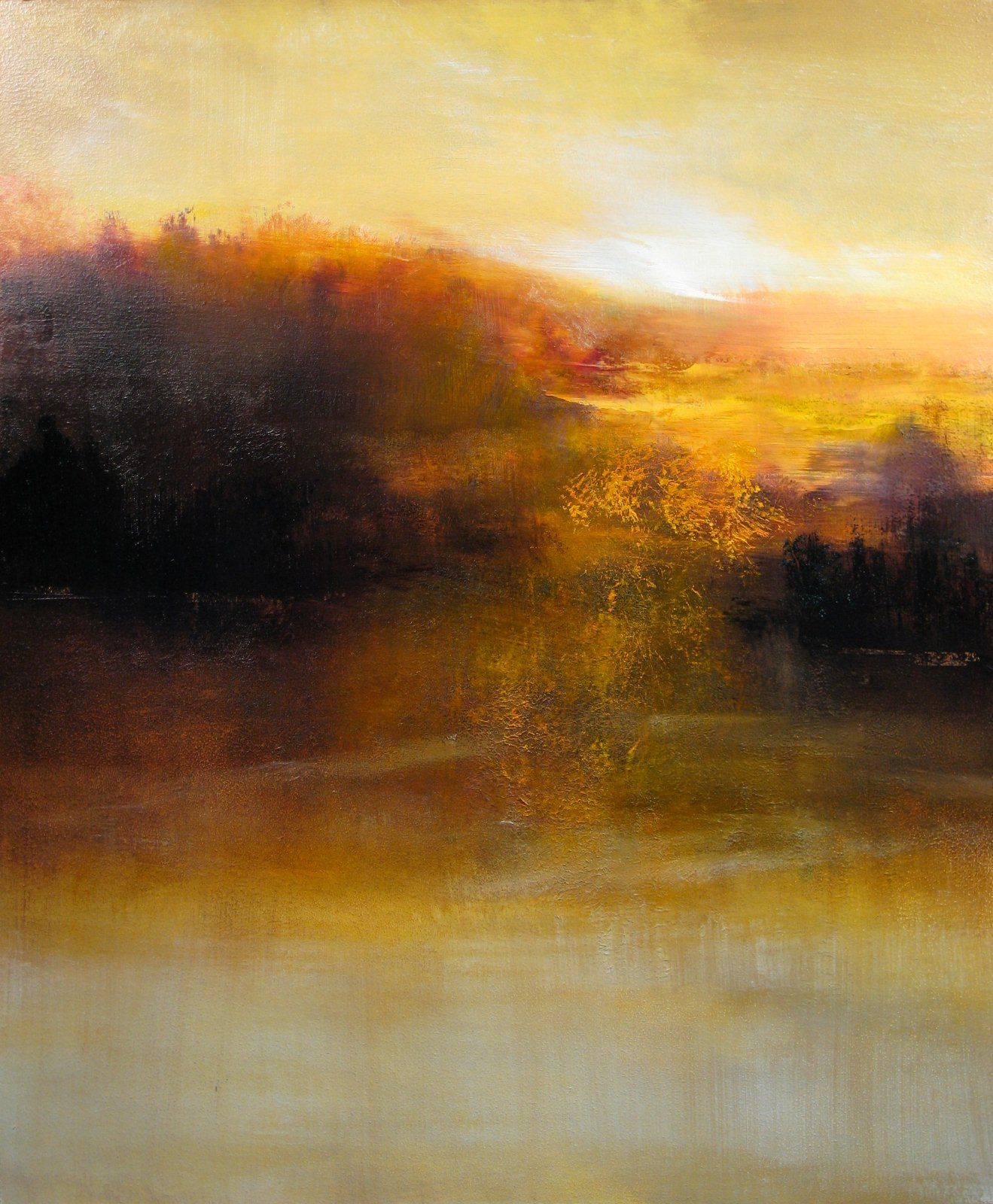Sunrise Maurice Sapiro Sunrise Art Painting Abstract Art Landscape Sunrise Art