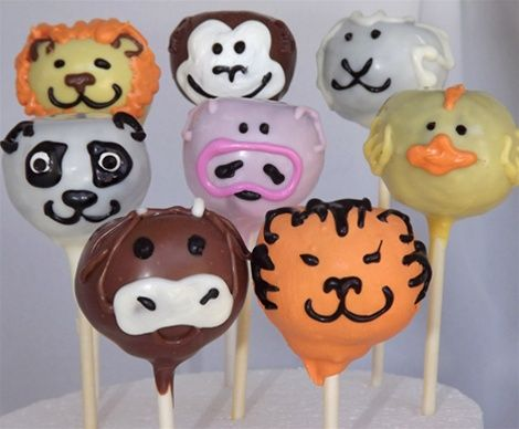 Animal Cake Pops Baby Shower Favors Birthday Party Jungle