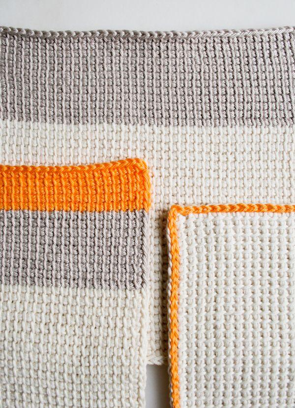 Tunisian Crochet Inspiration - Crocheting the Day Away | Crochet ...