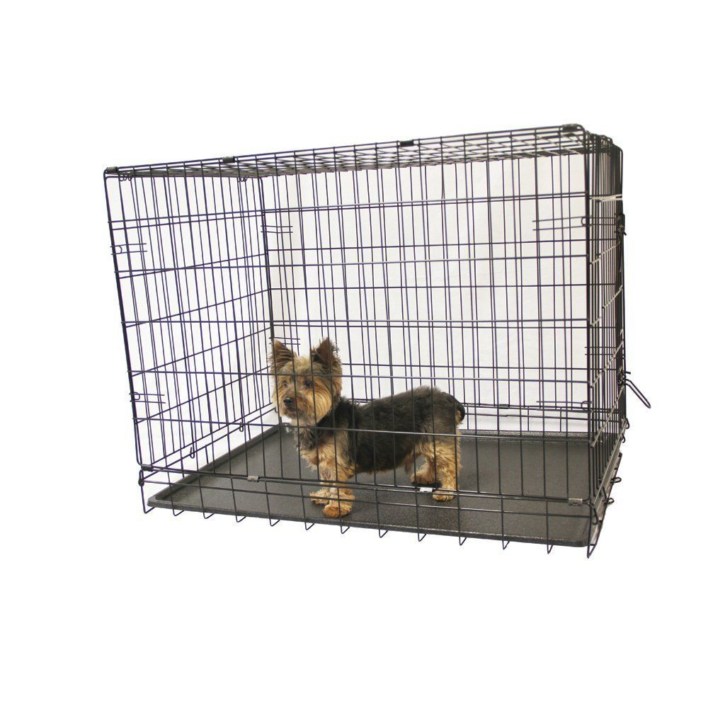 Kennelmaster Folding Kennel Crate with Divider, 42' L x 28