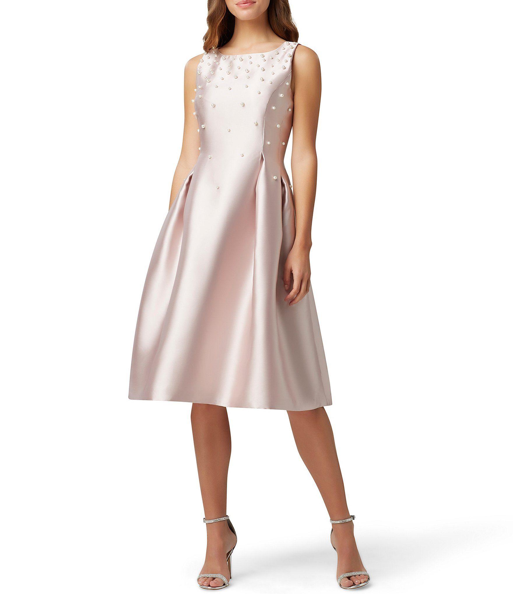 Tahari Asl Embellished Pearl Tea Length Sleeveless Fit Flare Dress Dillard S In 2021 Fit Flare Dress Flare Dress Fashion [ 2040 x 1760 Pixel ]