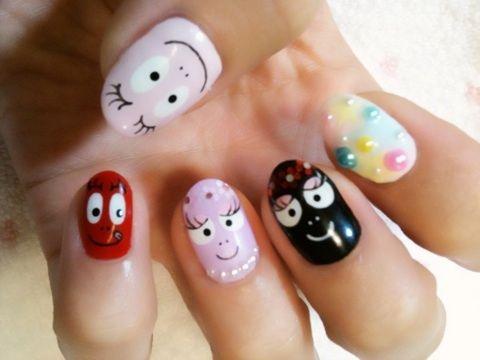 バーバパパネイル  barbapapa nails   nail art cute