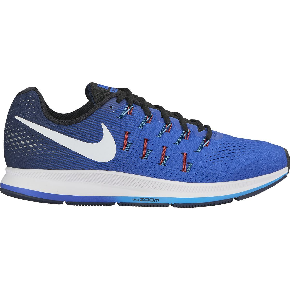 Nike Air Zoom Pegasus 33 Running Shoe Racer Blue/Midnight Navy/Blue  GloWhite 11.5