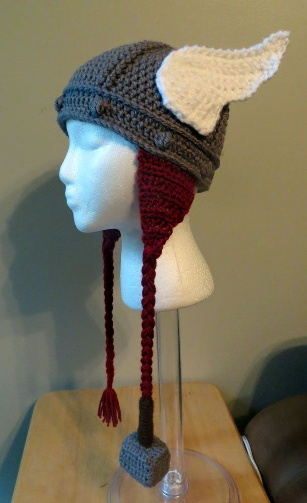 My Thor hat design | Hats Crochet | Pinterest | Mütze, Gestrickte ...