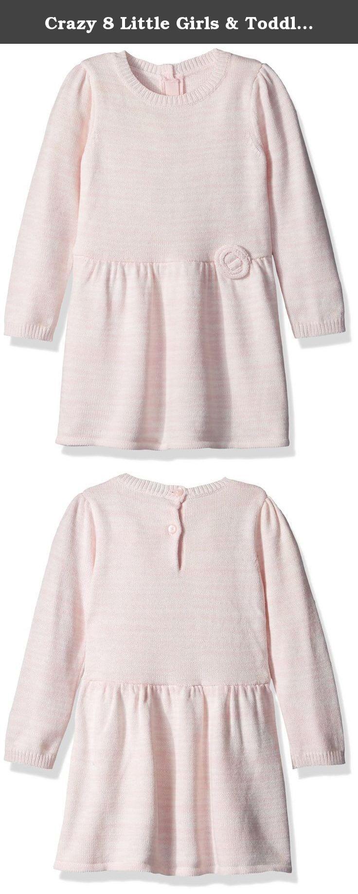 Crazy little girls u toddler looped sweater dress pink y loop