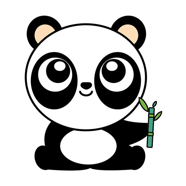 Como Dibujar Un Oso Panda Kawaii Comodibujar Club Como Dibujar Un Oso Imagenes De Animales Kawaii Panda Kawaii