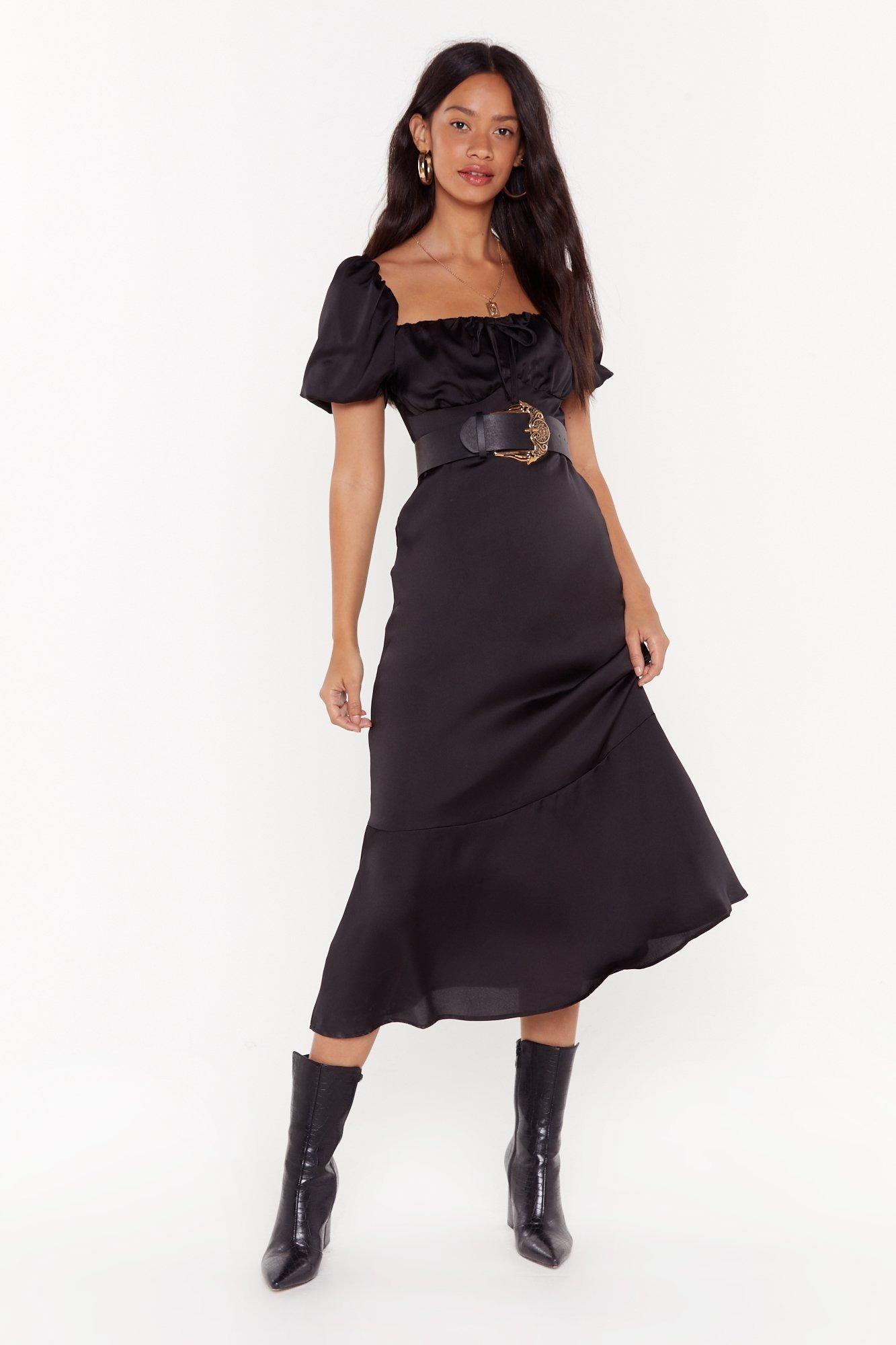 As it satins square neck midi dress dresses satin