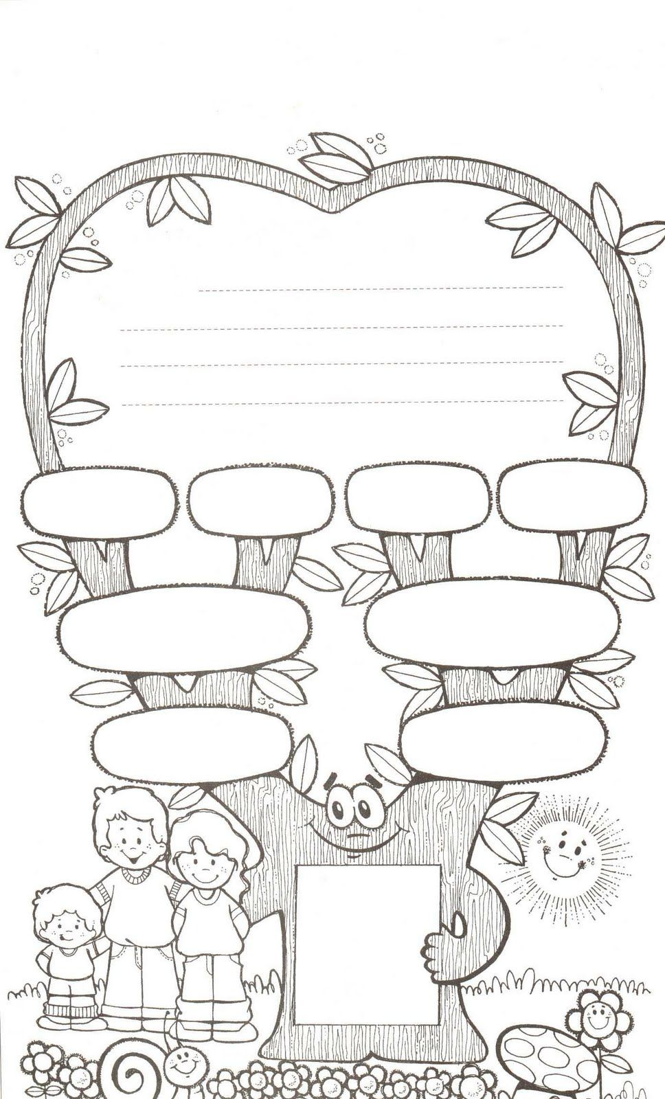 Worksheets Family Tree Worksheet For Kids family tree worksheet printable more