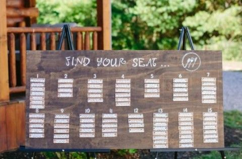 Original Wedding Seating Chart Ideas  HappyweddCom  Wedding