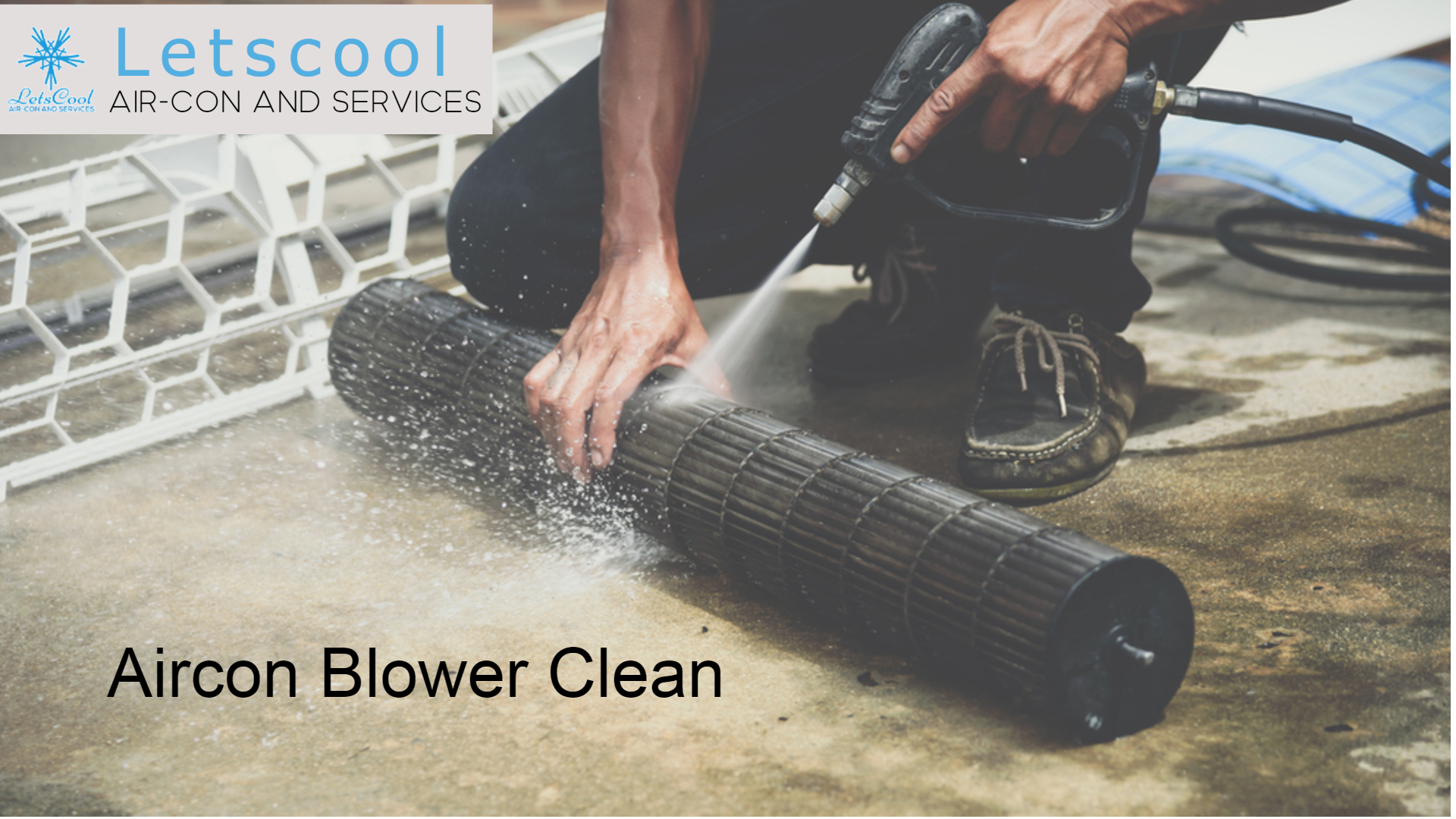 blower clean for air conditioner to reduce dusty air