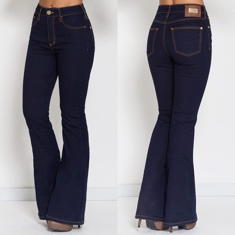 677838c2d6 Calça Jeans Flare Azul Forum