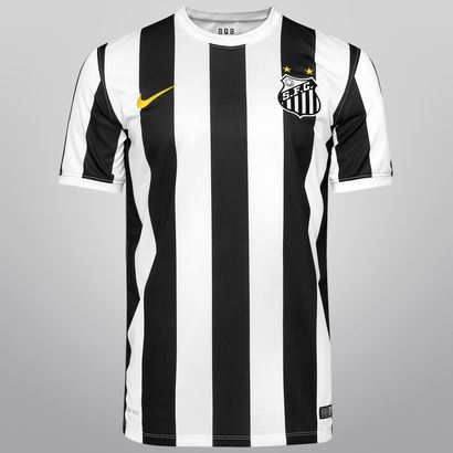 45fbf4a27d Camisa Nike Santos II 14 15 s nº - Preto+Branco