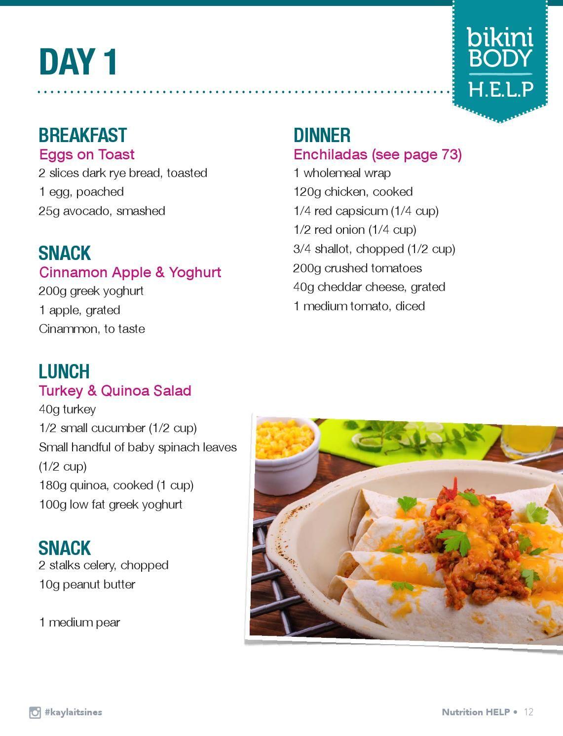 Kayla Itsines Bbg Food Guide Free