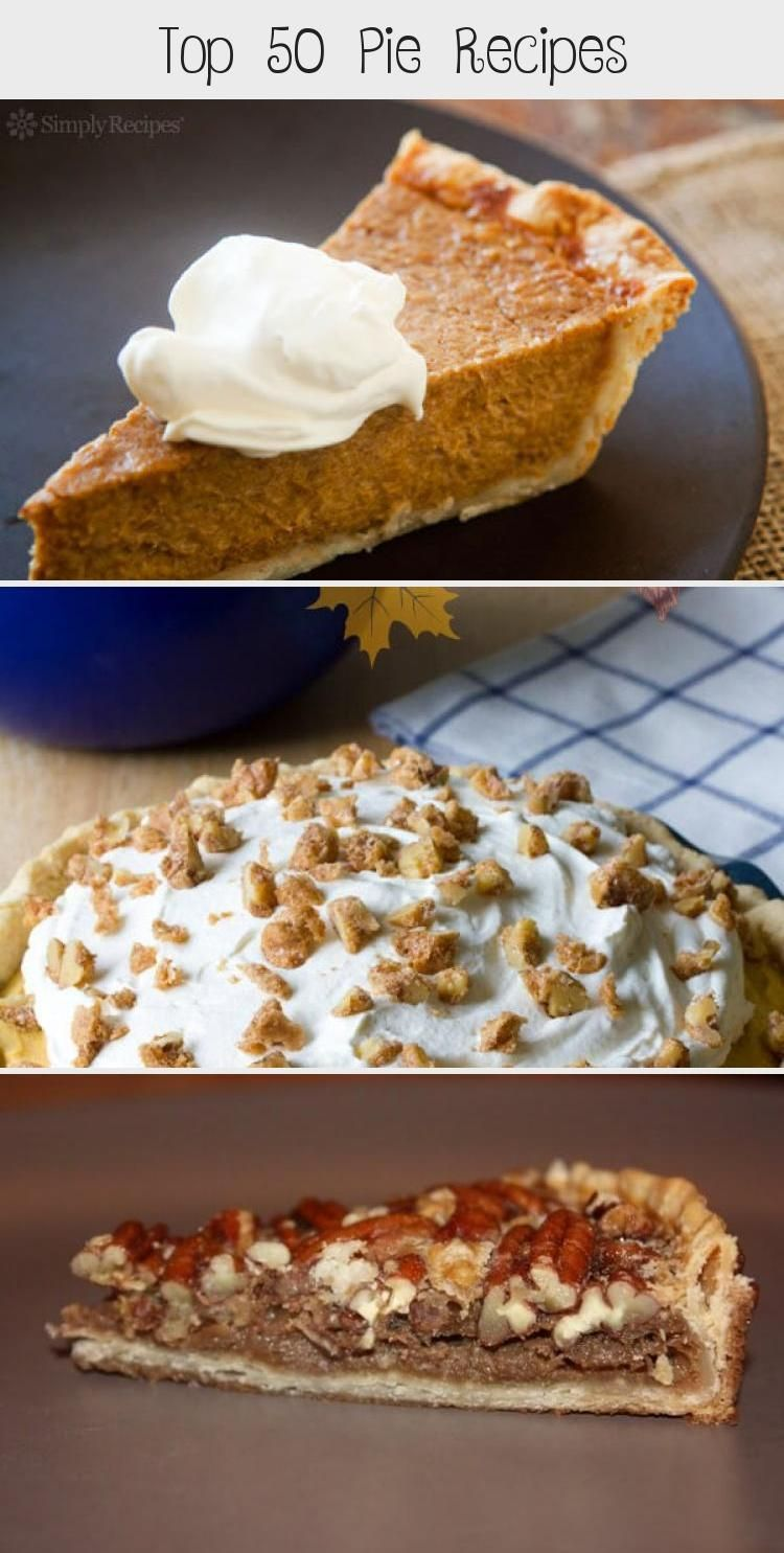 Top 50 pie recipes rounded up by Crystal of Cooking with Crystal There is something synonymous with