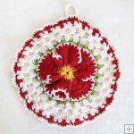 Vintage Floral Potholders Crochet Patterns Crochet Patterns Vintage Flower Potholders [PB057] - $6.39 : Maggie Weldon, Free Crochet Patterns