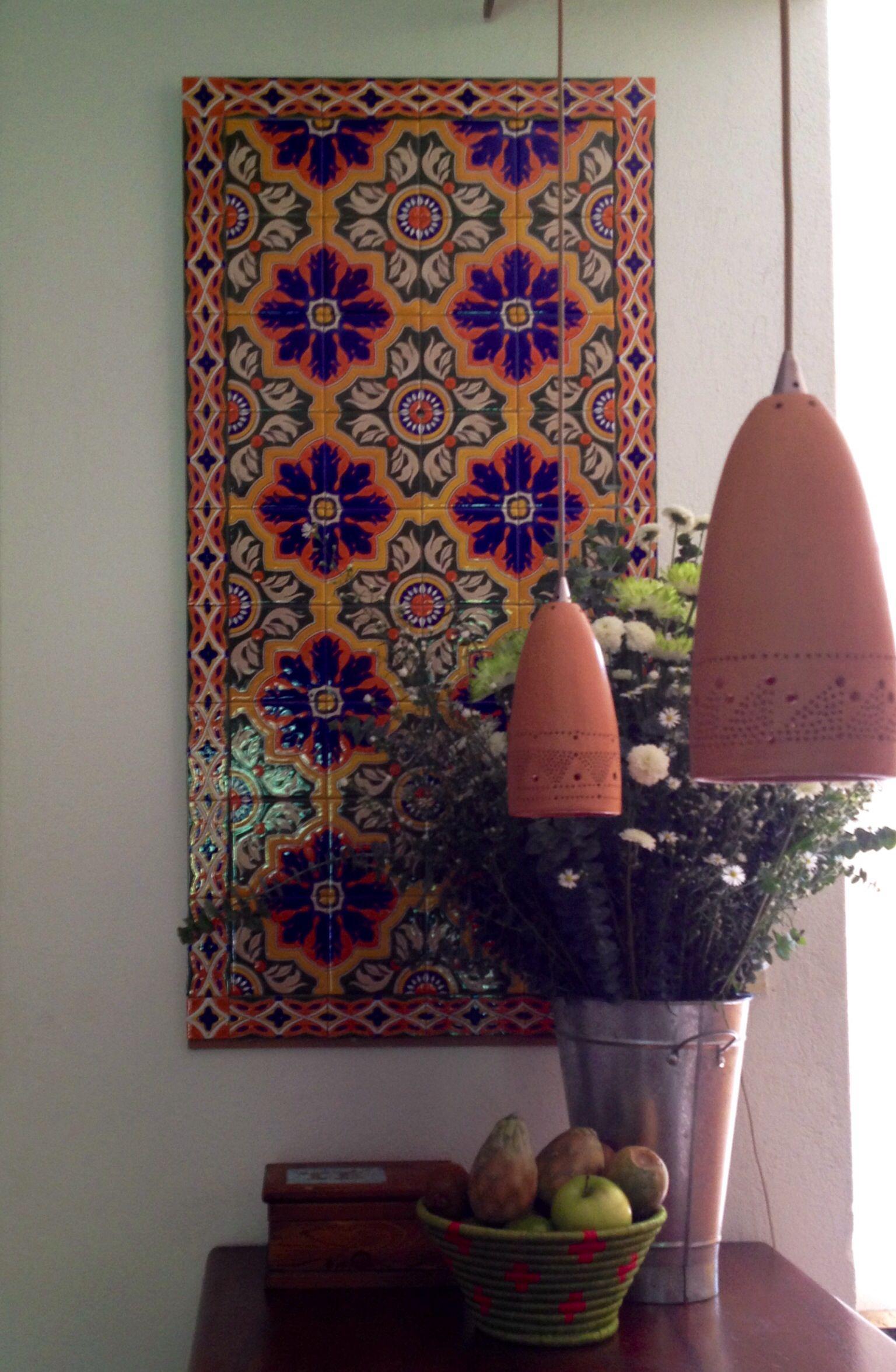 Mural para pared baldosas pintadas - Pintar mural en pared ...