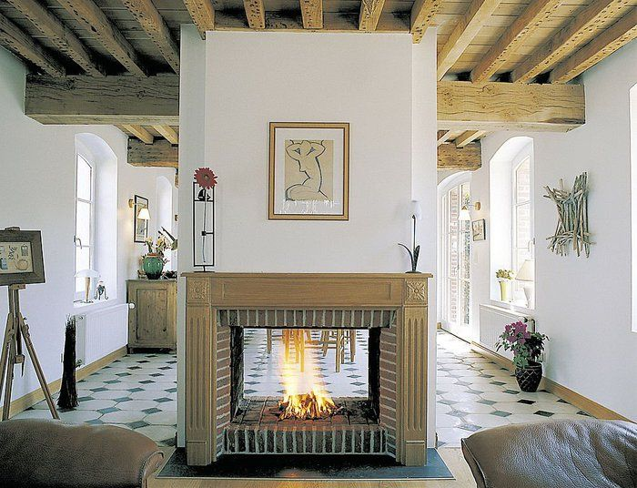 fireplace between two rooms | For my future house build ...