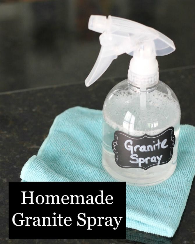Granite Cleaner That You Make Yourself Is Much More Cost Efficient