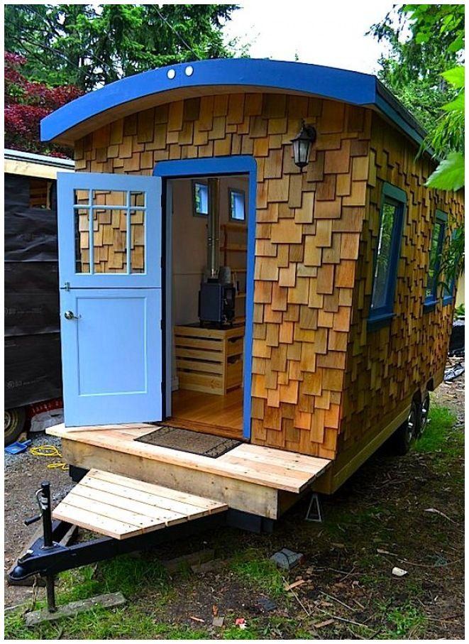 Hornby Island Caravan s Tiny Home Your Next fice Micro Guest House