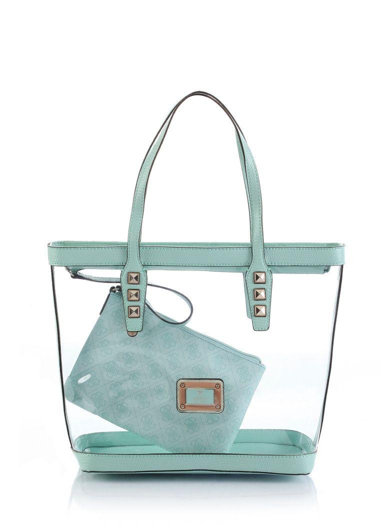 c279792cbbb5 Logo Remix Clear Plastic Tote Bag