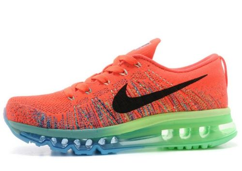 big sale 96070 b6c1a Really Cheap Men Nike Flyknit Air Max Hyper Crimson Electric Green Blue  Black Nike Air Max Flyknit For Sale