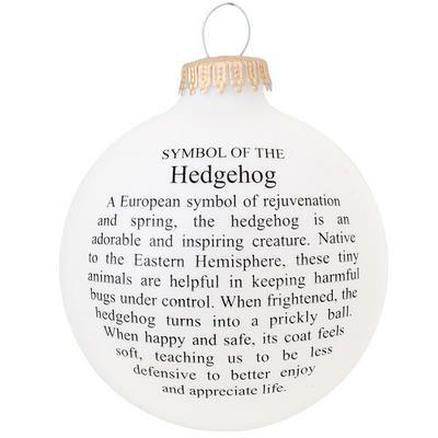 The Symbol Of The Hedgehog Glass Ornament Christmas Poems Favorite Christmas Songs Christmas