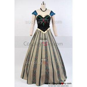 Disney Movie Frozen Anna Coronation Dress Cosplay Costume · Frozen  PrincessPrincess AnnaPrincess PartyDisney PrincessMovie CostumesCosplay ...