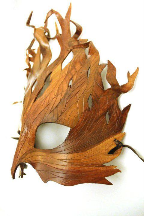 Another one.    Leather Tree Mask by OakMyth on Etsy, $85.00