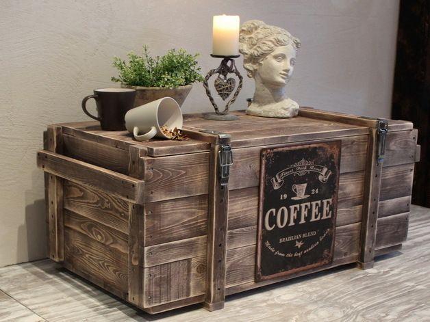 Schlafzimmer truhe ~ Http: de.dawanda.com product 42045062 kaffe truhe of used look