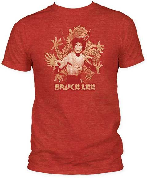 0e43c0b28 BRUCE LEE DRAGON FITTED JERSEY TEE | Generation T - Super Soft Heather Tee  Shirt