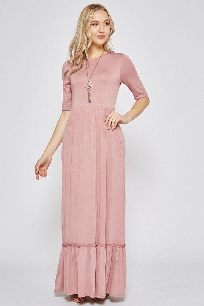 8c434bab6b6 Boutique · Tiffany Ruffle Hem Maxi Dress   Mauve – GOZON Boutique