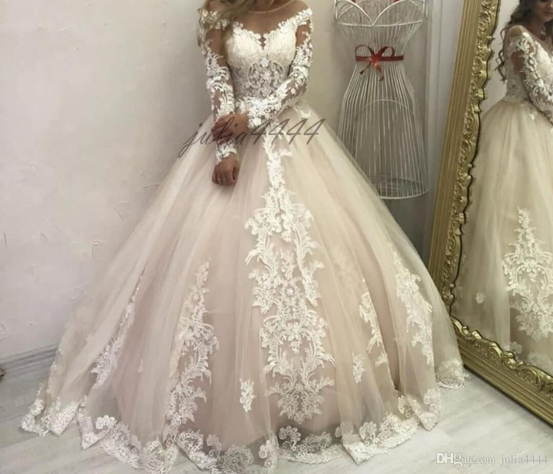 Hot Sale New Design Vintage Cathedral Train Wedding Dresses Modest Michael Cinco Dubai Ara Ball Gowns Wedding Princess Bridal Gown Cheap Wedding Dresses Online