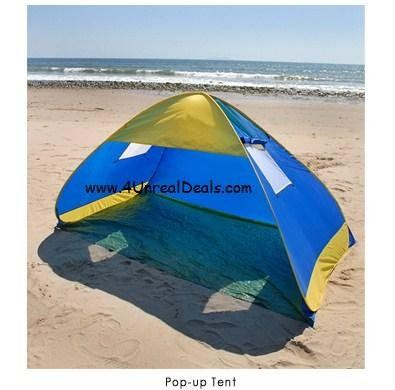 Deluxe Royal Blue Pop Up Tent Beach Cabana Tent Family Sun Shade Portable Shelter with Windows : portable beach tent - memphite.com