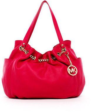 7d800347d797 ShopStyle: MICHAEL Michael Kors Jet Set Chain Ring Tote, Lacquer Pink