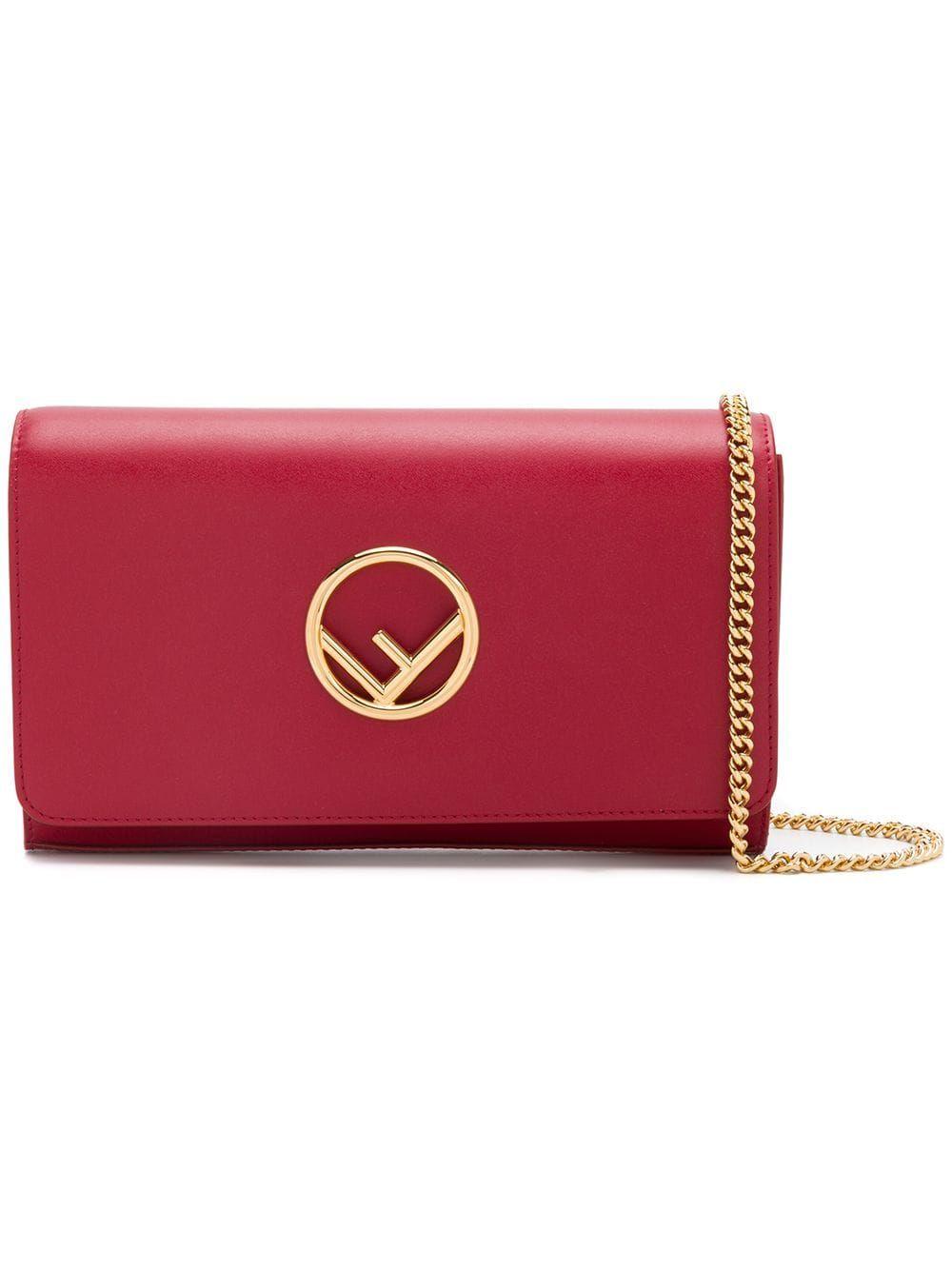 5b0eeae4b0 Fendi Kan I F wallet on chain - Red in 2019 | Products | Fendi mini ...