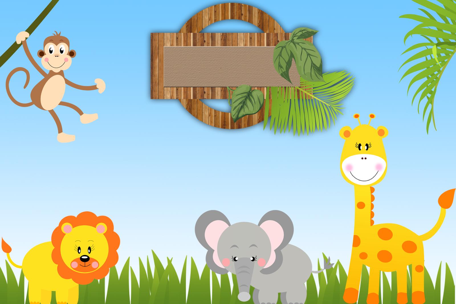 convite+safari+1.png 1.600×1.066 pixels   marcos de invitacion ...