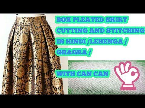 ef1b42da9f BOX PLEATED SKIRT CUTTING AND STITCHING IN HINDI /LEHENGA /GHAGRA /WITH CAN  CAN - YouTube