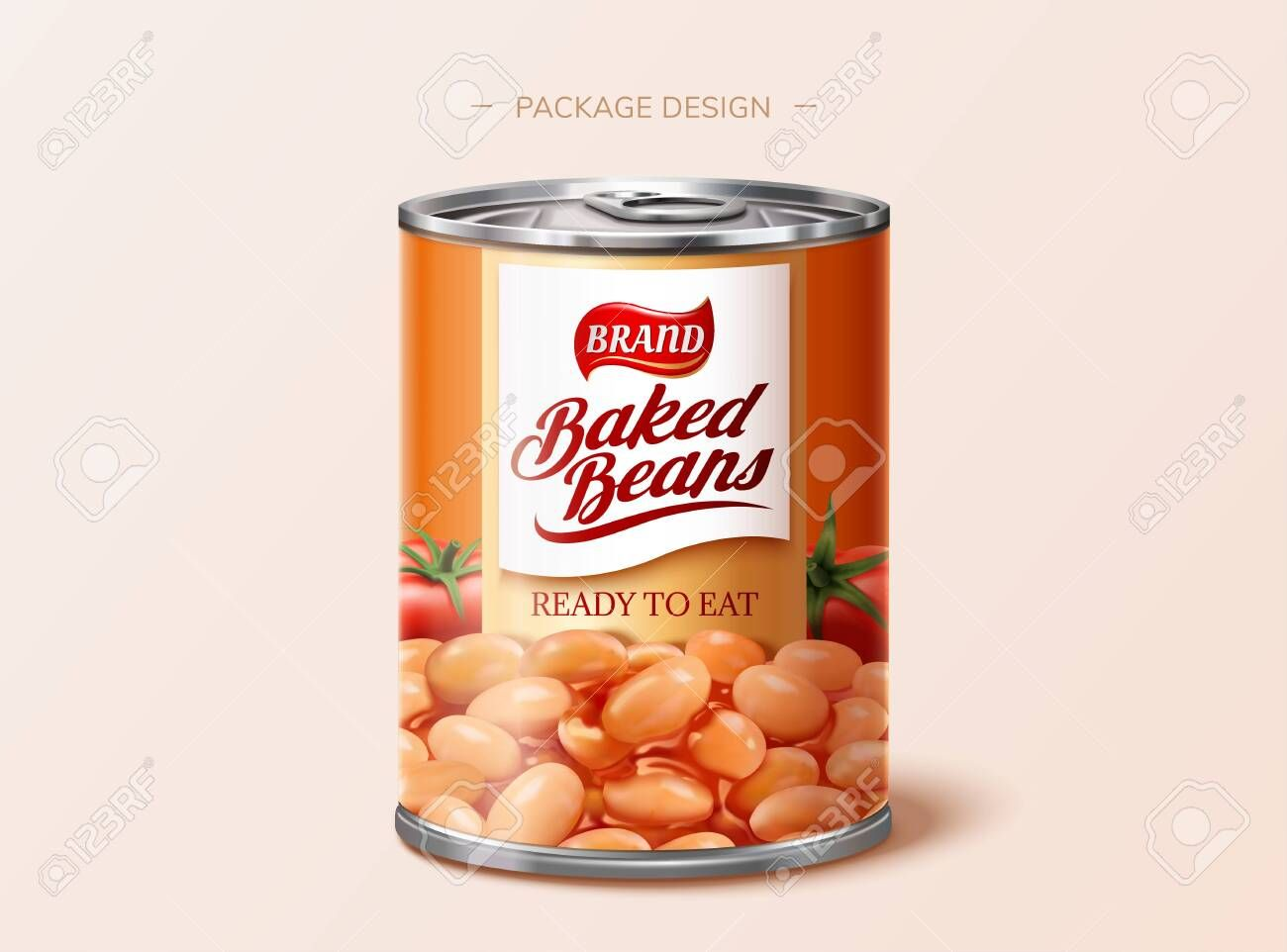 Baked Beans Tin Package Design In 3d Illustration Illustration Sponsored Tin Beans Baked Package Illustr Dog Food Recipes Baked Beans Food Animals