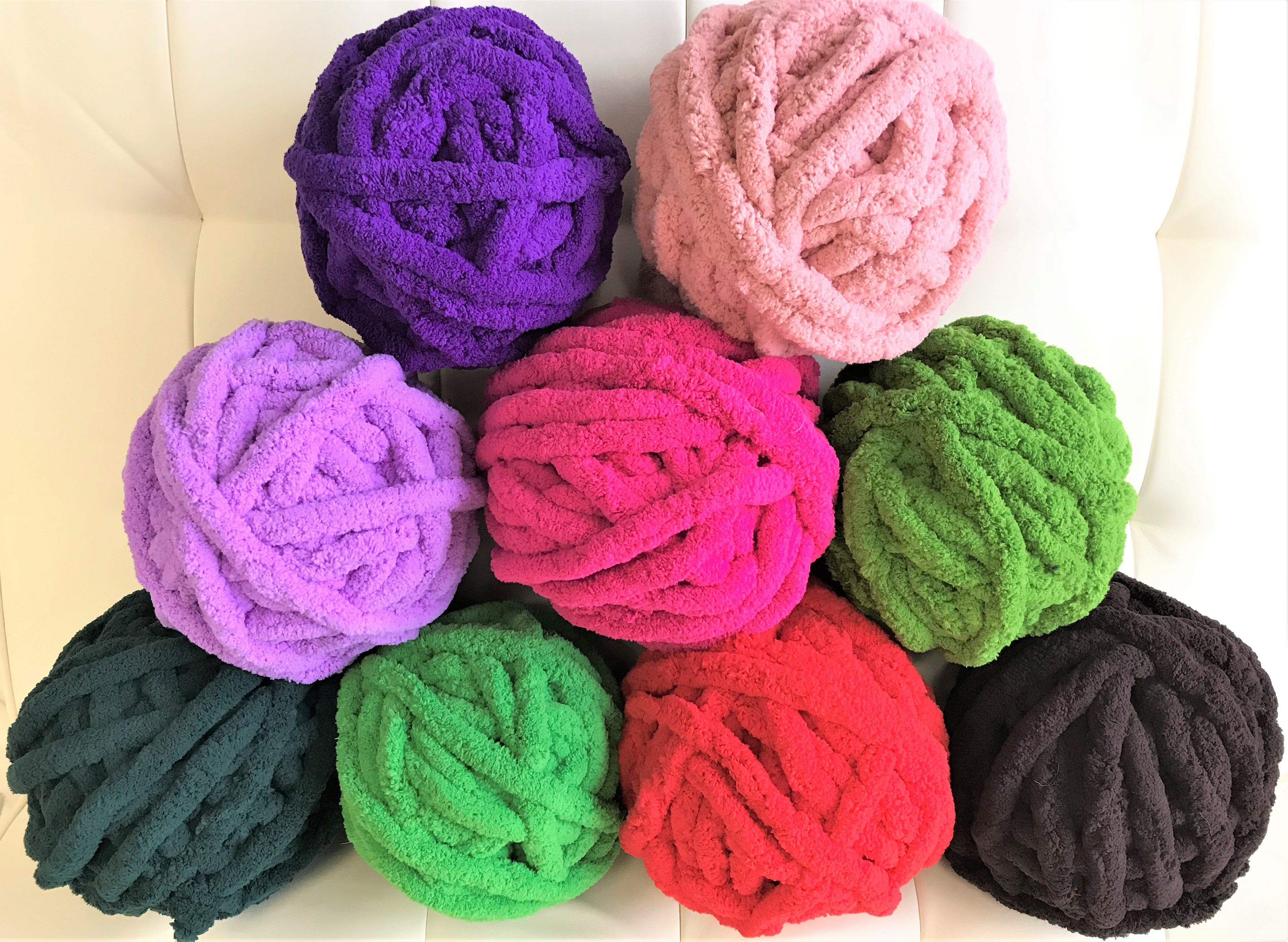 Chunky chenille yarn for chunky chenille blanket  29 colors