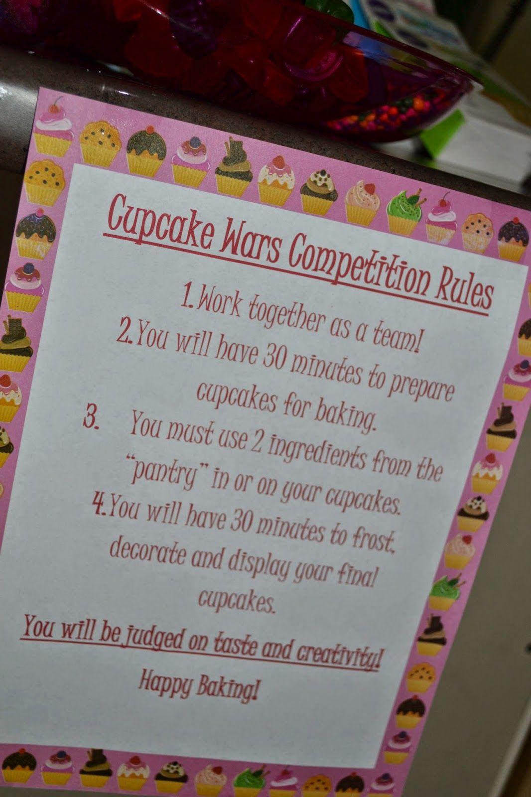 Seeking Sandy Cupcake Wars Birthday Party